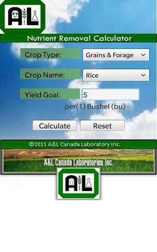 Nutrient Removal Calculator
