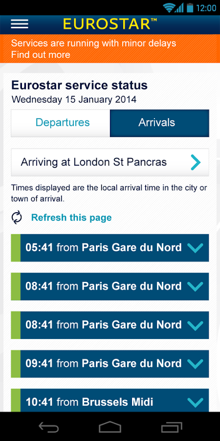 Eurostar Trains - screenshot