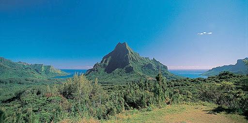 Mount-Rotui-Moorea - Mount Rotui is the second highest peak on Mo'orea, rising 3,200 feet.
