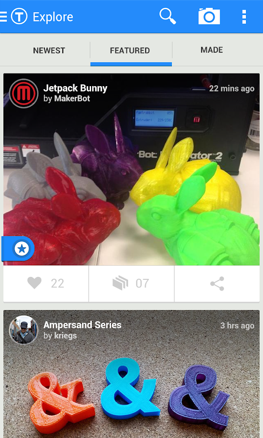 Thingiverse- screenshot