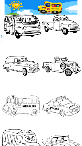 Wheels Coloring Pages