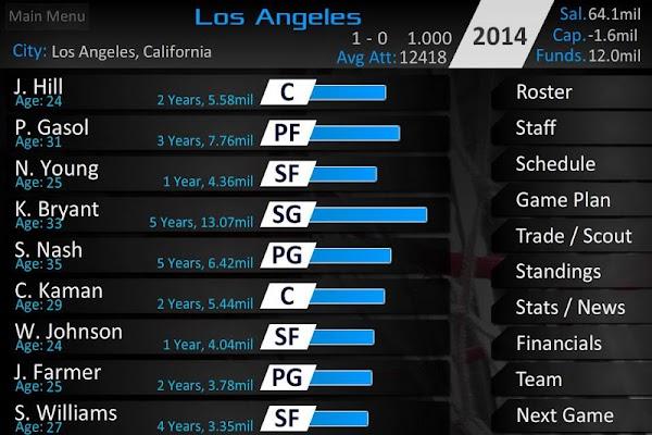 Basketball Dynasty Manager 14 - screenshot