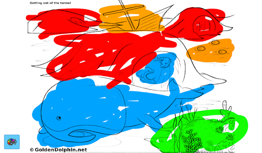 Golden Dolphin Coloring App