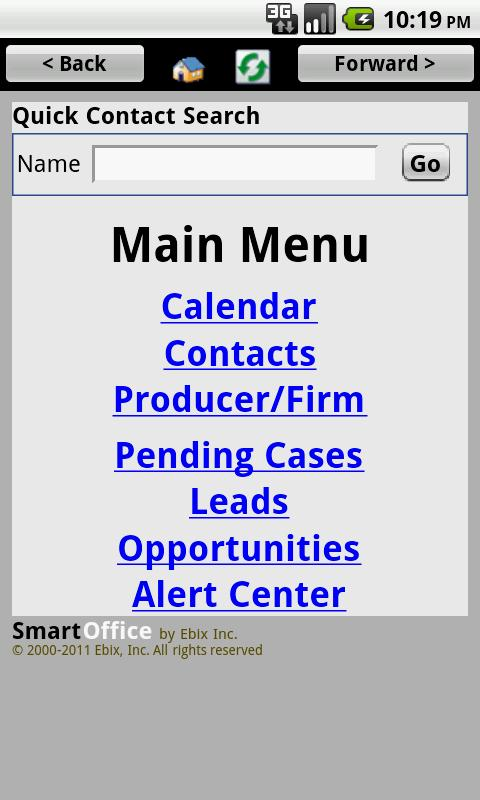 SmartOffice CRM by Ebix - screenshot