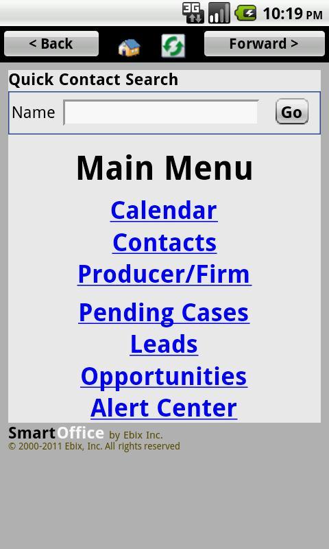 SmartOffice CRM by Ebix - screenshot