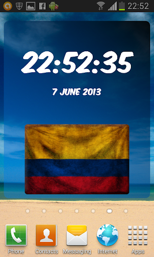 Colombia Digital Clock