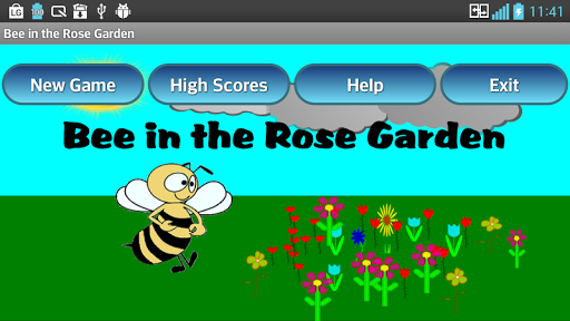 Bee in the Rose Garden