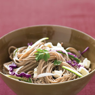 Cold Soba Salad with Feta and Cucumber