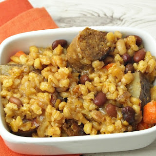 Vegetarian Chicken Apple Sausage Cholent
