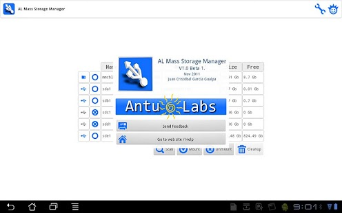 AL Mass Storage Manager - screenshot thumbnail