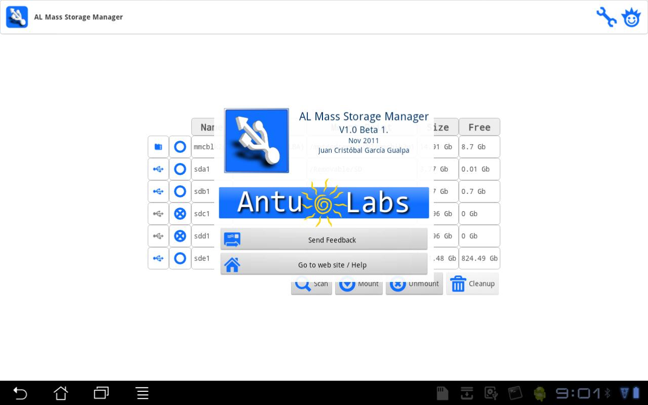 AL Mass Storage Manager - screenshot
