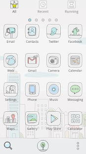 Line City GO Launcher Theme - screenshot thumbnail