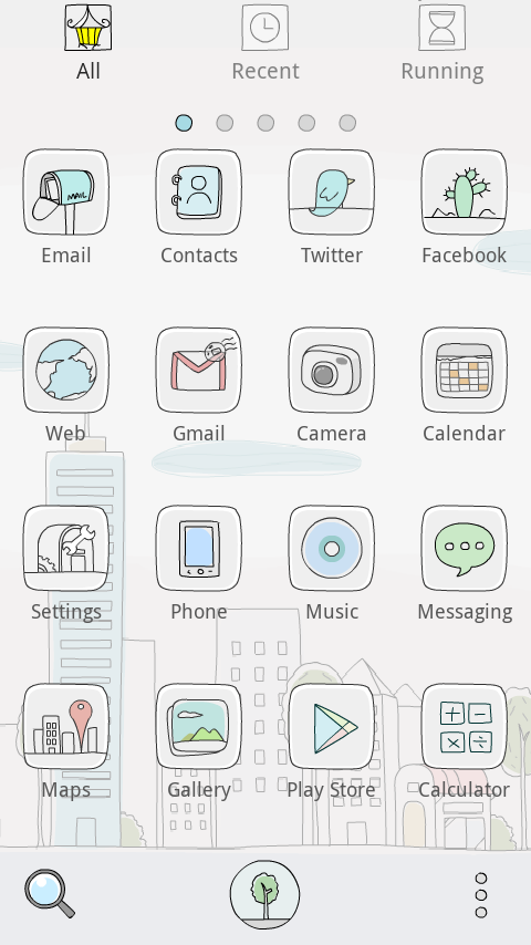 Line City GO Launcher Theme - screenshot