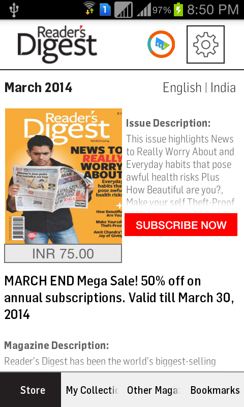 Reader's Digest India - Reader's Digest magazine and books offer arresting content on health, true stories, humor, personality, Opinion, Facts, Fiction, Interview, Good Books review with Cover Story and National Interest stories.