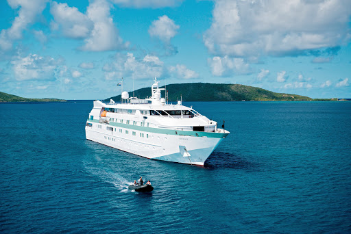 Tere-Moana-aerial -  Tere Moana offers an intimate and luxurious experience sailing the waters of the Caribbean, Mediterranean, Adriatic Sea and South Pacific.