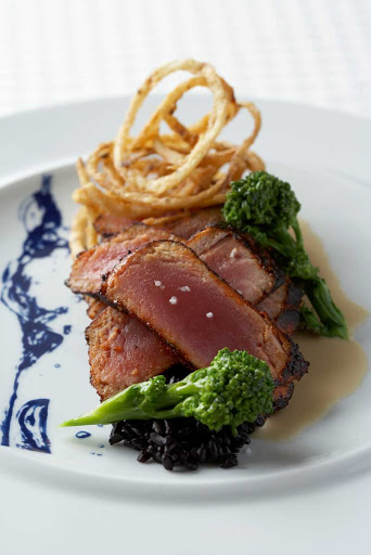 CEL_Blu_tuna - Celebrity's artful presentation scores an A with this pan-seared tuna dish at Blu restaurant.