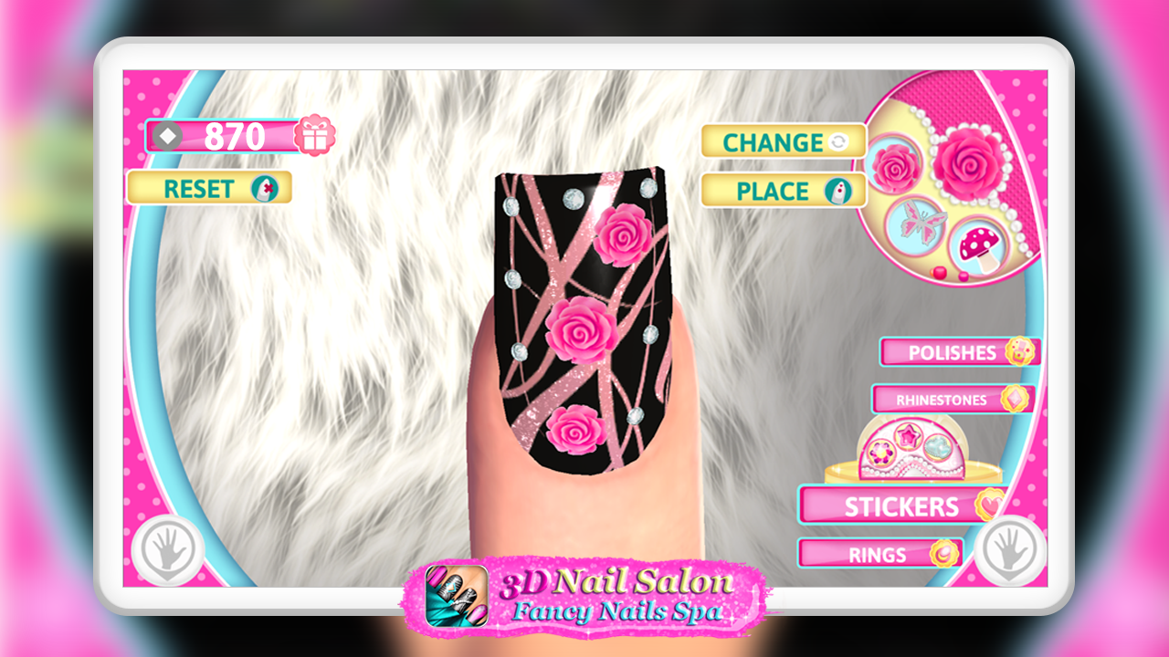 3d nail salon fancy nails spa android apps on google play for 3d nail art salon
