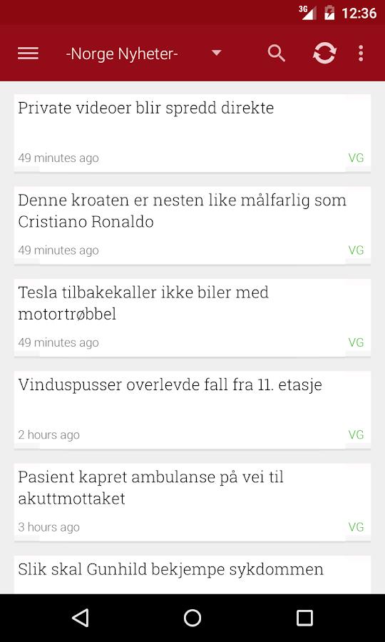 Norge Nyheter - screenshot