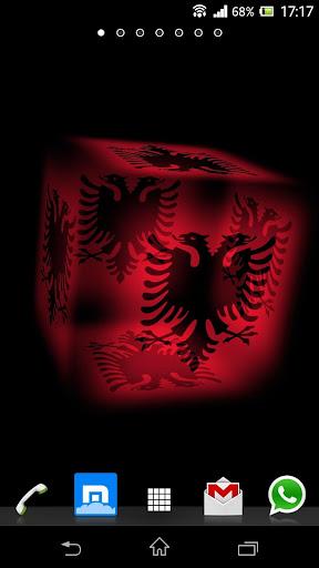 3D Shqipëri Cube Flag LWP