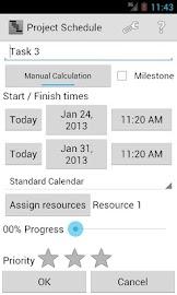 Project Schedule Screenshot 4