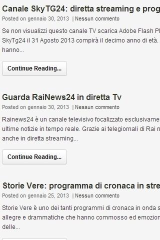 Ultime notizie Quotidiani e TV- screenshot