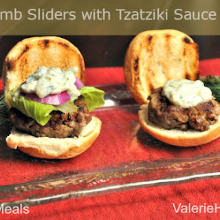 Lamb Sliders with Tzatziki Sauce