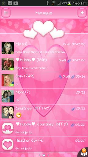 GO SMS - Heart Bliss