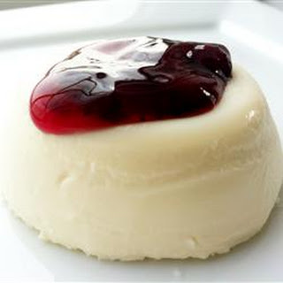 Panna Cotta with Berry Sauce
