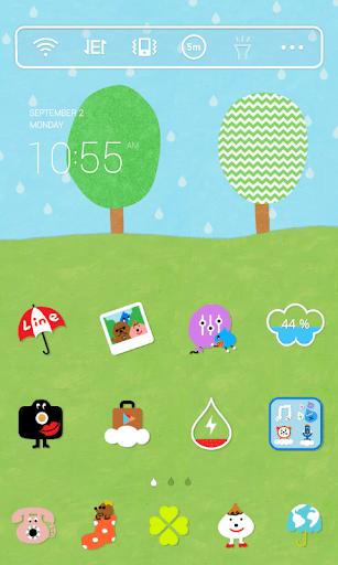 Summer Rain 2 Dodol Theme