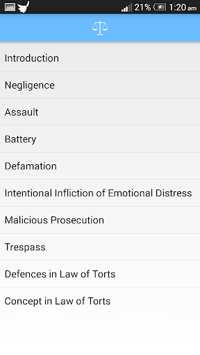 Basics of Law of Torts