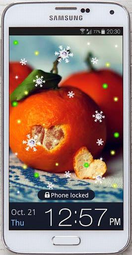 Tangerines live wallpaper