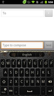GO Keyboard BlackLeather theme - screenshot thumbnail