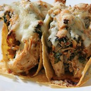 Spicy Chicken Baked Tacos