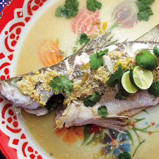 Steamed Fish with Lime and Chile.