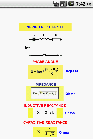 Electricity-Series RLC