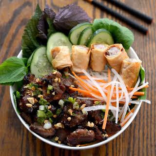 Bún Thịt Nướng Recipe (Vietnamese Grilled Pork & Rice Noodles).