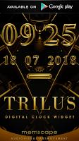 Screenshot of TRILUS Luxury Clock Widget