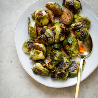 Teriyaki Glazed Roasted Brussels Sprouts.