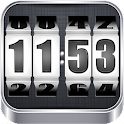 3D Rolling Clock WHITE icon