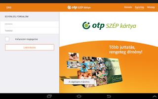 Screenshot of OTP SZÉP card
