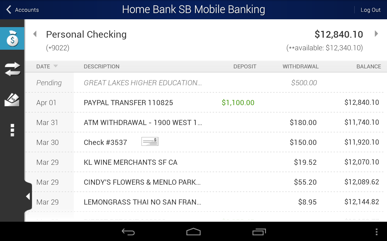Home Bank SB Mobile Banking - screenshot