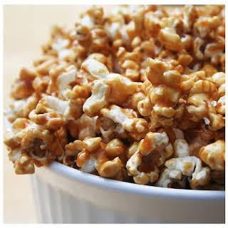Warm Spiced Cinnamon Vanilla Popcorn.