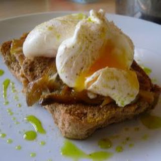 Simple Smoked Mackerel On Toast With Poached Egg.