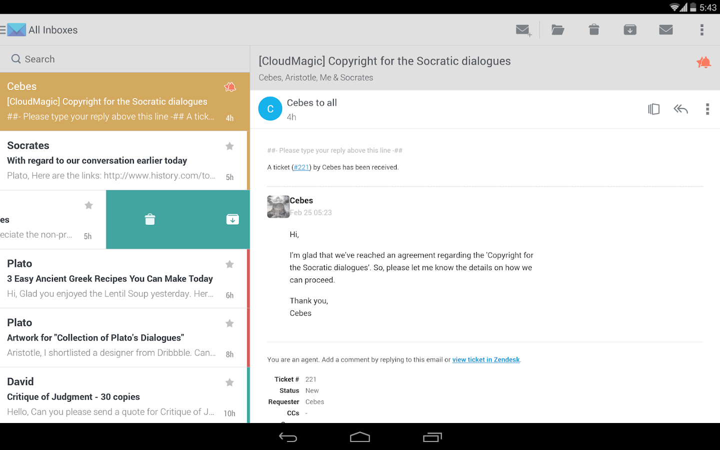 CloudMagic - Email App - screenshot