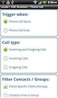 Screenshot of Call Monitor Tasker Plug-in