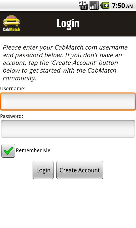 Cab Match Taxi Ride Share - screenshot