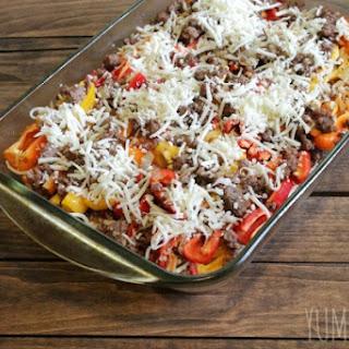 Low Carb Sweet Pepper Lasagna