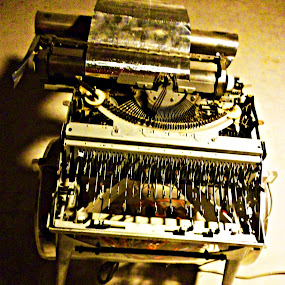 The Writer by Arifah Mardiningrum - Artistic Objects Antiques ( journalism, old, sephia, typing machine, rustic )