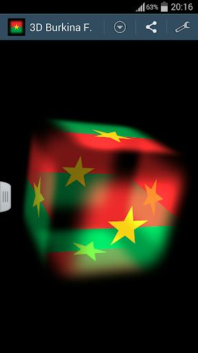 3D Burkina Faso Cube Flag LWP