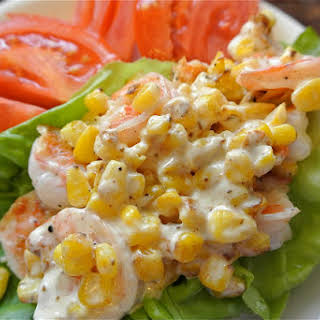 Shrimp Salad Lettuce Wraps.